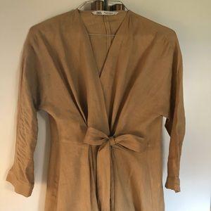 Zara linen wrap jacket